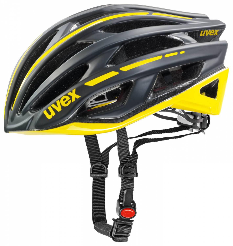 uvex Race 5 Radhelm (Größe: 52-56 cm, 10 black mat/yellow) Sale Angebote Kathlow