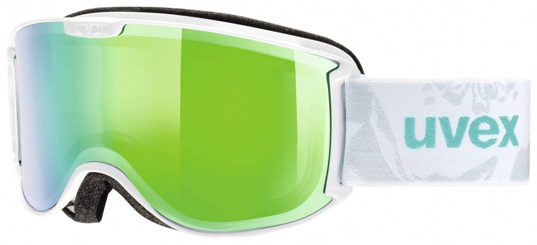 uvex Skyper Skibrille Full Mirror (Farbe: 1126 white mint, mirror pink clear)