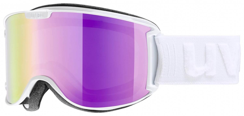 uvex Skyper Skibrille Litemirror (Farbe: 1326 white mat, litemirror pink/clear)