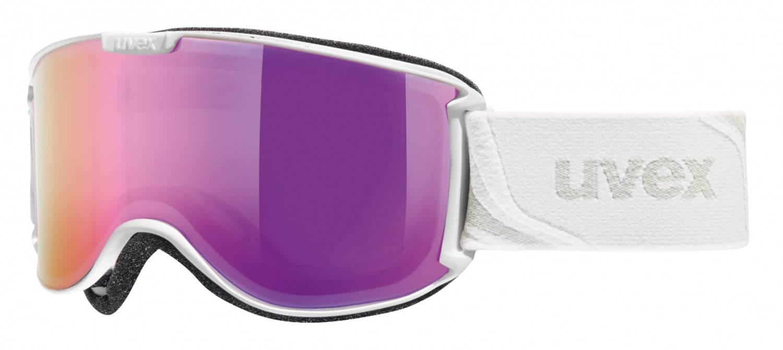 uvex Skyper Skibrille Litemirror (Farbe: 1026 white mat, litemirror pink/lasergold lite)