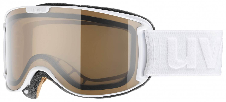 Schipkau Klettwitz Angebote uvex Skyper Polavision Skibrille (Farbe: 1021 white mat, polavisison brown/clear)