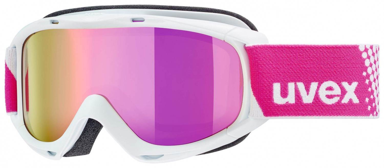 uvex Slider FM Kinderskibrille (Farbe 1030 white, mirror pink lasergold lite (S3))