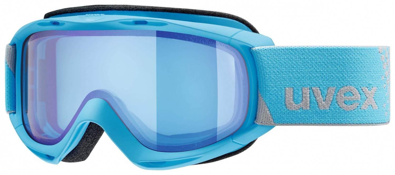 uvex Slider FM Kinderskibrille (Farbe 4030 blue, mirror blue blue (S1))