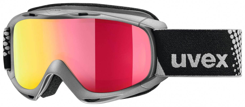 uvex Slider FM Kinderskibrille (Farbe 5030 anthracite, mirror red lasergold lite (S3))