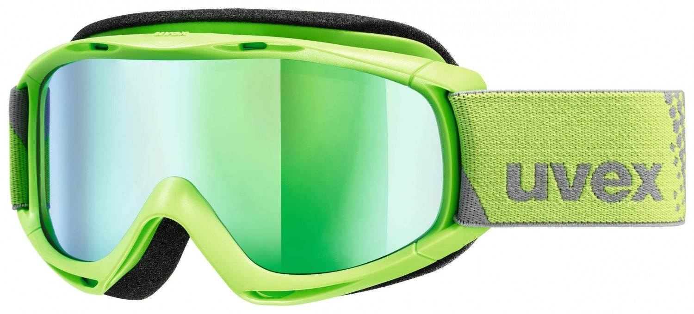 uvex Slider FM Kinderskibrille (Farbe 7030 applegreen, mirror green lasergold lite (S3))