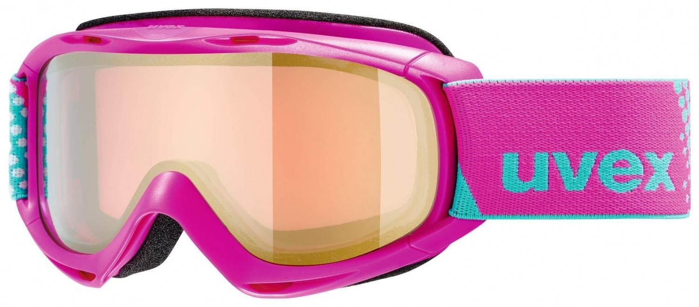 uvex Slider FM Kinderskibrille (Farbe 9030 pink, mirror gold rose (S2))