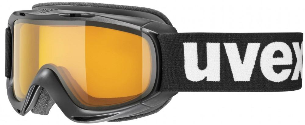 uvex Kinderskibrille Slider (Farbe 2129 black, lasergold lite clear)