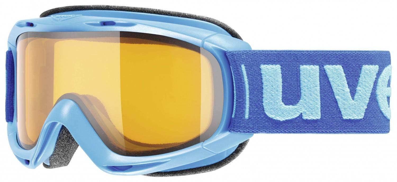 uvex Kinderskibrille Slider (Farbe 4329 cyan, lasergold lite clear)