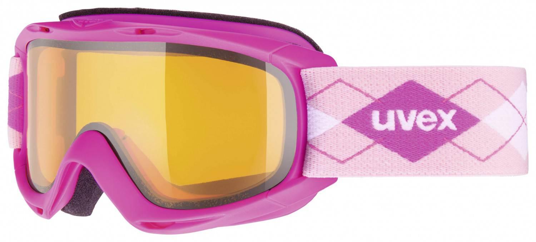 uvex Kinderskibrille Slider (Farbe 7129 pink, lasergold lite clear)
