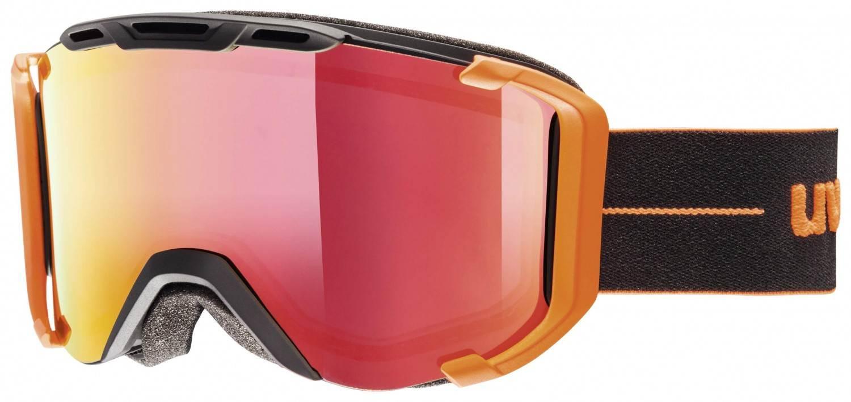 uvex-snowstrike-litemirror-skibrille-farbe-6126-black-orange-mat-mirror-red-clear-