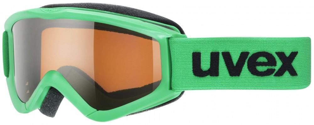 uvex Kinderskibrille Speedy Pro (Farbe 7012 green, single lens, lasergold)