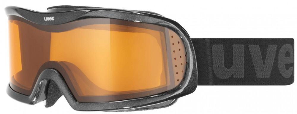 uvex Brillenträger Skibrille Vision Optic I (Farbe: 2229 black metallic, lasergold lite/clear)